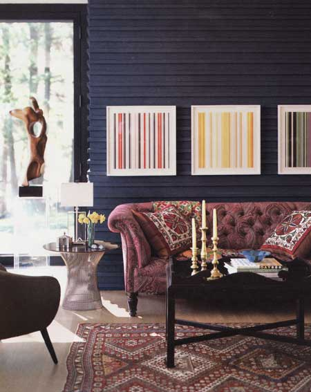 living room modern u2013 colorful photographs by artist jonathan lewis blend beautifully with the paisley covered george smith sofa hickory tray table and
