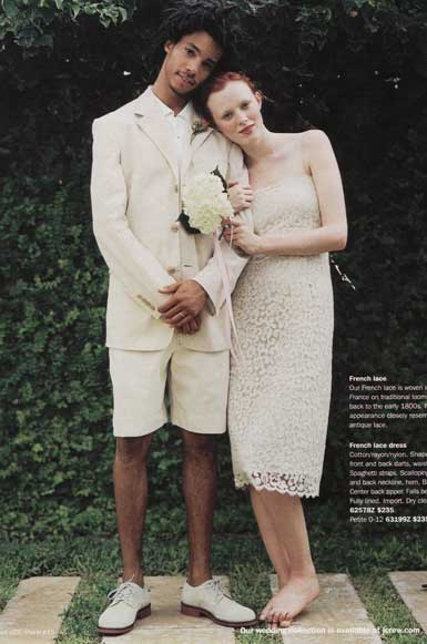 Crew s 2004 catalog included this wedding dress cream colored