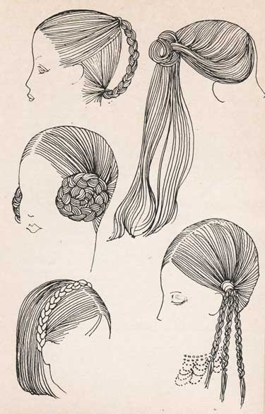 I recently picked up a fun little booklet on hairstyles from the early 70′s.