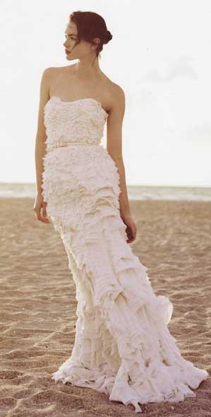 My favorite is this long tiered chiffon dress that could be worn as a bridal