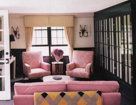 5.Living room– ... - StyleFile #47: Think Pink For Decorating NIBS