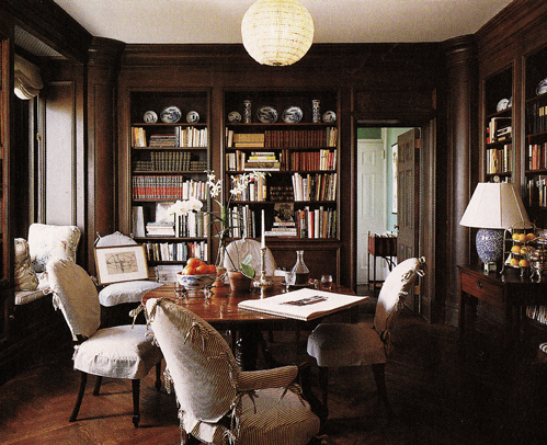 Lil pix 96 paneled library nibs for Dining room library