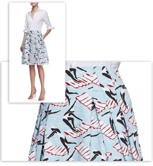 carolina herrera print skirt swimmers novelty fabric-opt