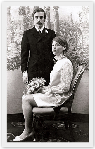 Why not use a vintage wedding photograph as your springboard for ideas