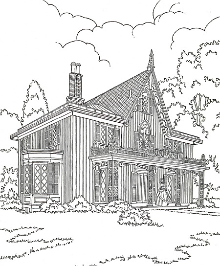 Escher Printable Coloring Pages additionally Ste unk Carousel Coloring Pages Sketch Templates moreover A Page From 30 additionally Drawn 20girl 20hipster moreover Myfonts Magnolia. on carpenter gothic fashion