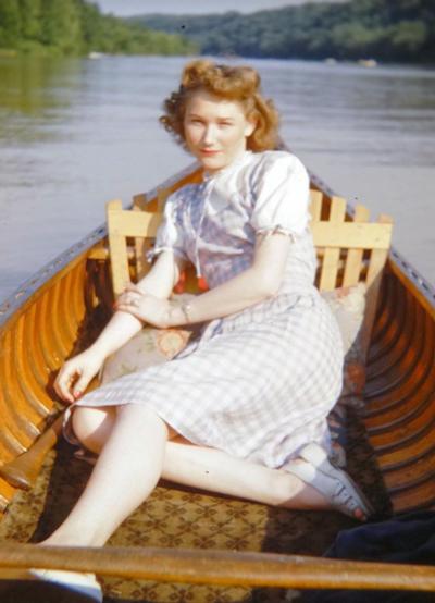 romantic-girl-gingham-dress-boat-1940s-opt